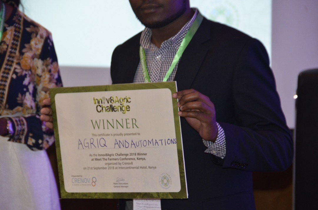 Kenyan Agric-Tech Start-up, AgriQ & Automations Wins Kenya