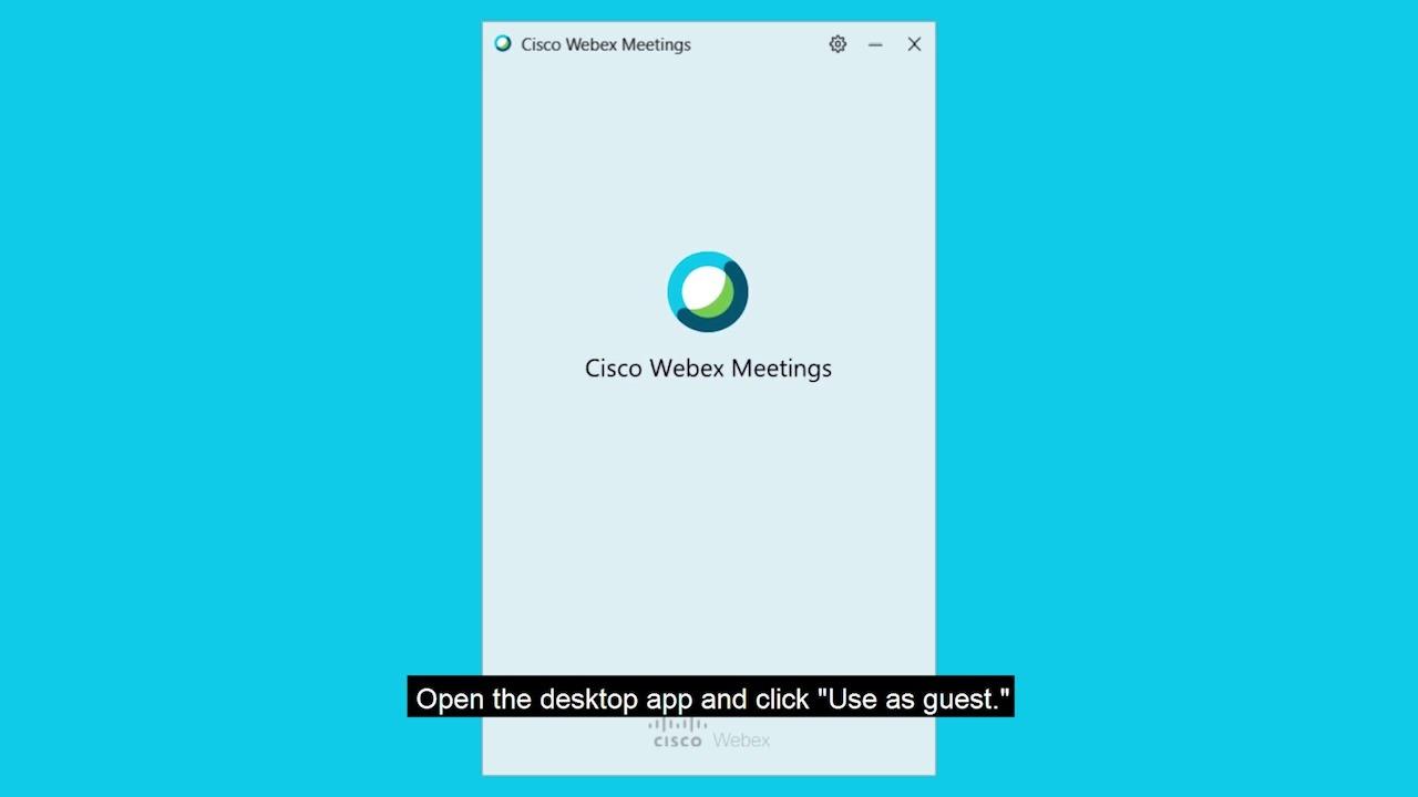 Webex video calling app